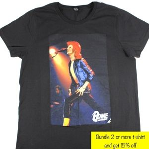 Bowie T-Shirt Black 2XL Mens or Womens